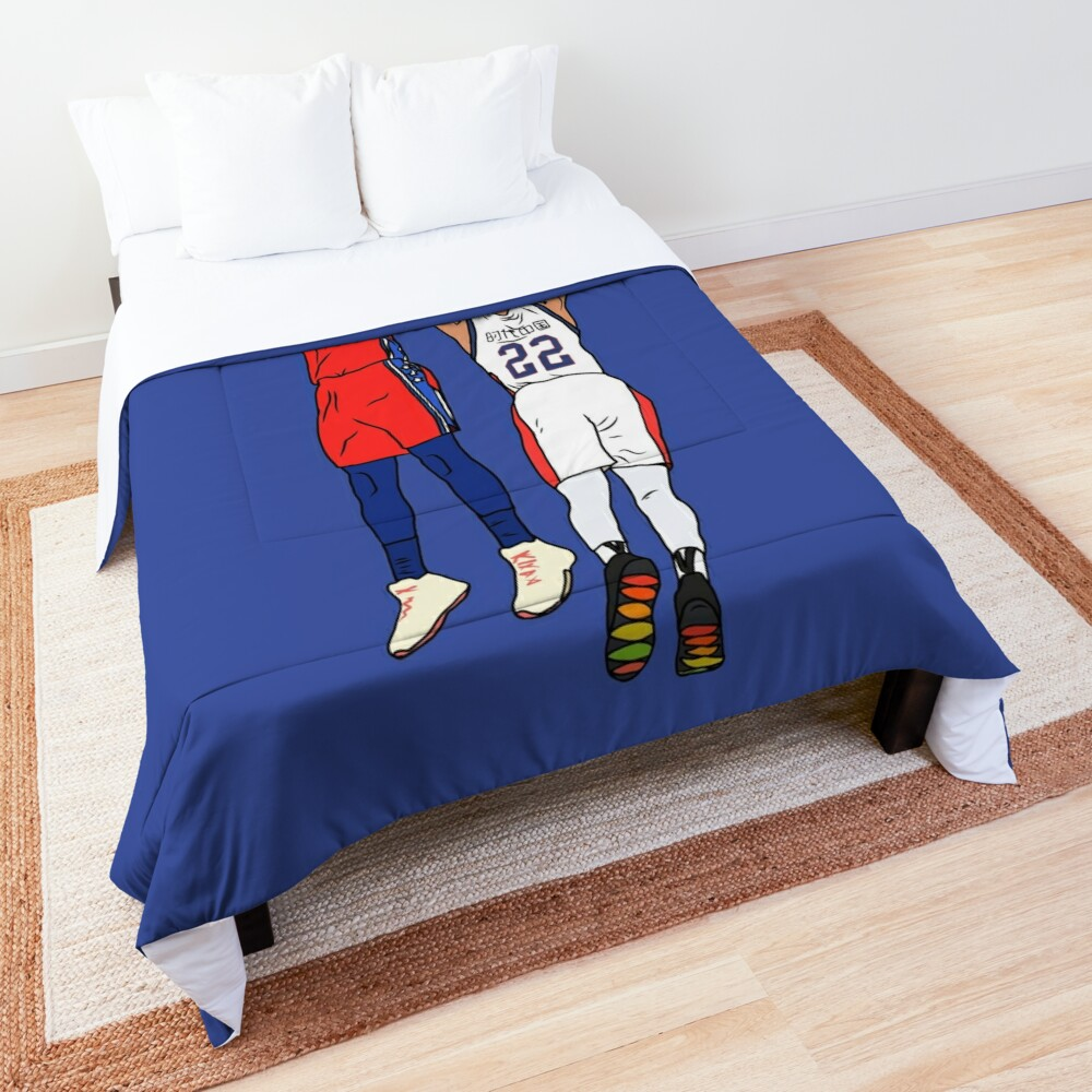 Ben Simmons Makes His First Three Comforter