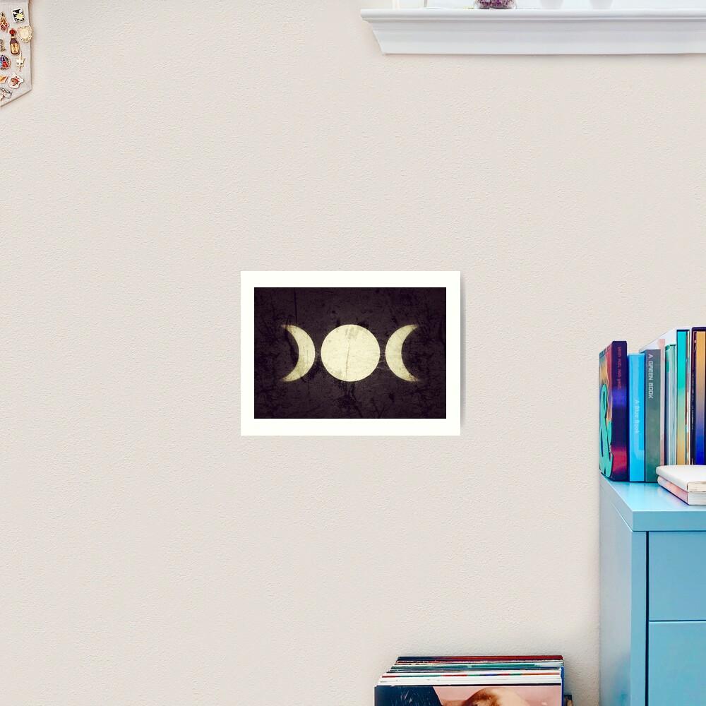 Triple Moon Goddess  Art Print