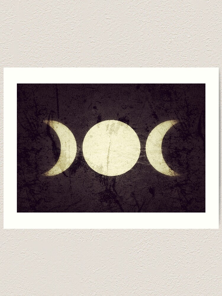Alternate view of Triple Moon Goddess  Art Print