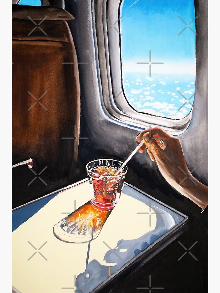 Retro Glass in Airplane  by Julia-Ockert