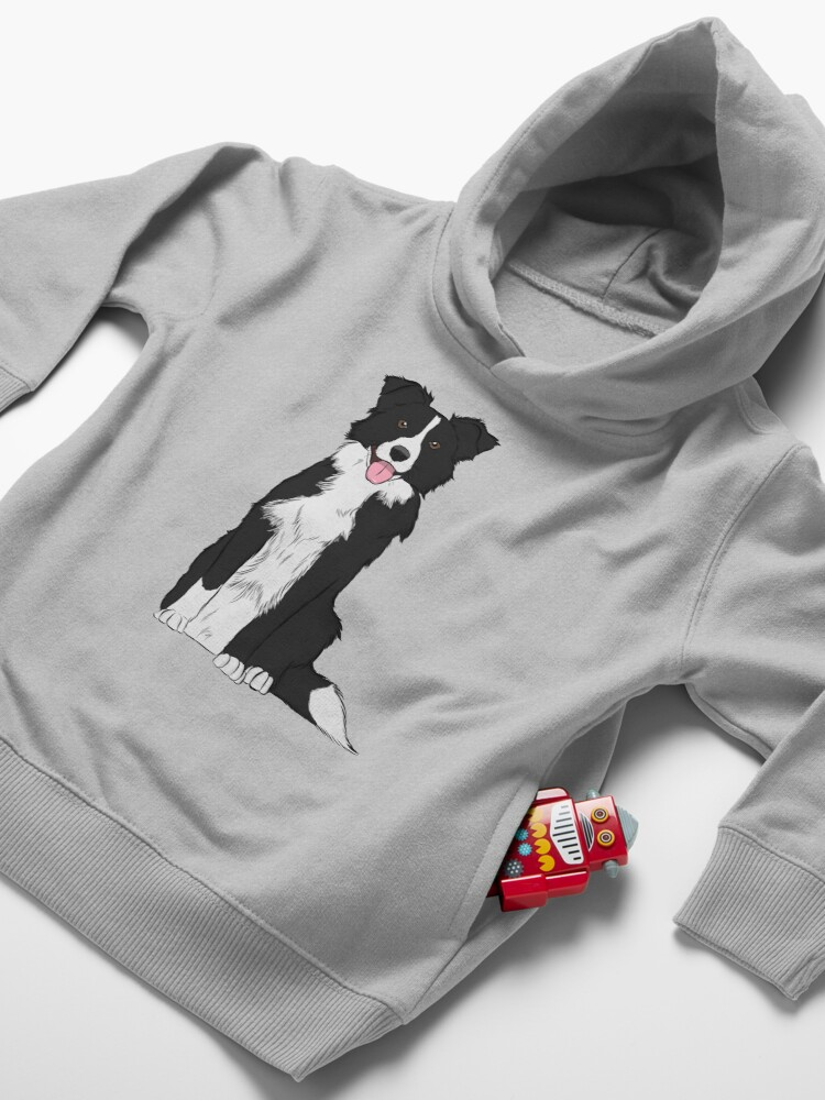 Alternate view of Border Collie Toddler Pullover Hoodie