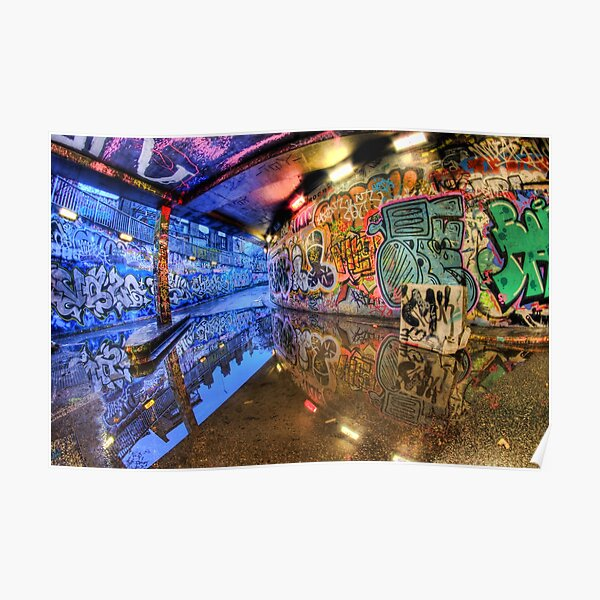 Graffiti Art Reflected Poster