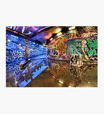Graffiti Art Reflected Photographic Print