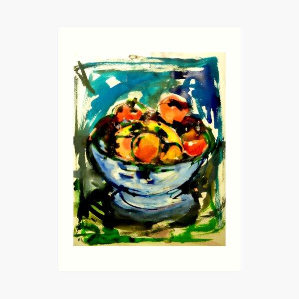 bowl of fruits Art Print