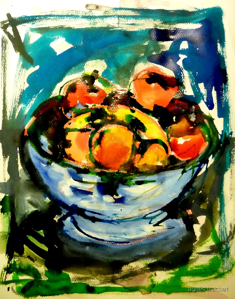bowl of fruits by agnès trachet