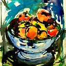 bowl of fruits by agnès trachet