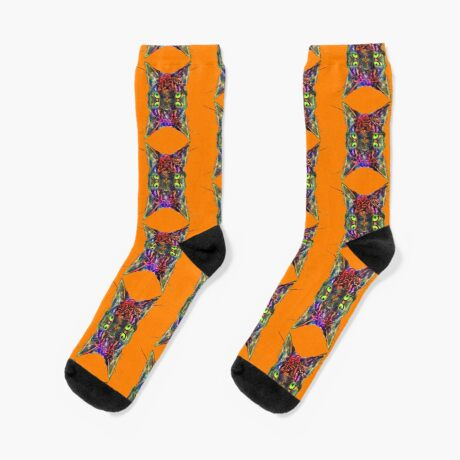 Artificial neural style Space galaxy mirror cat Socks
