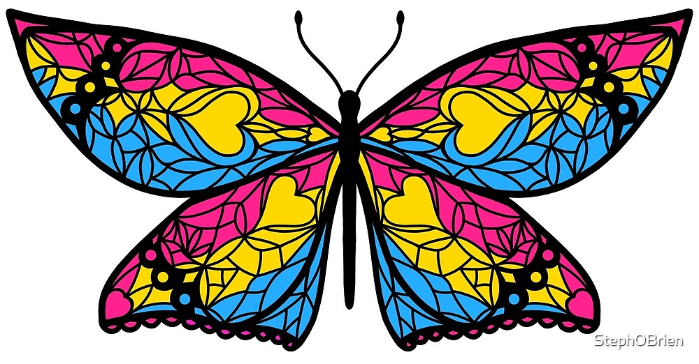 Fly With Pride: Pansexual Flag Butterfly by StephOBrien