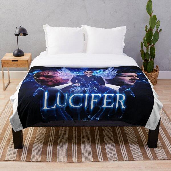 Lucifer Morningstar - Devil vs Angel  Throw Blanket