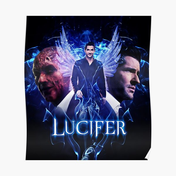 Lucifer Morningstar - diable vs ange Poster