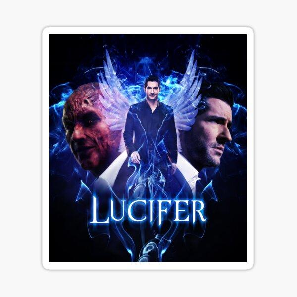 Lucifer Morningstar - Devil vs Angel  Sticker