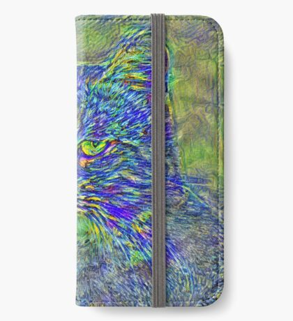 Artificial neural style Post-Impressionism cat iPhone Wallet