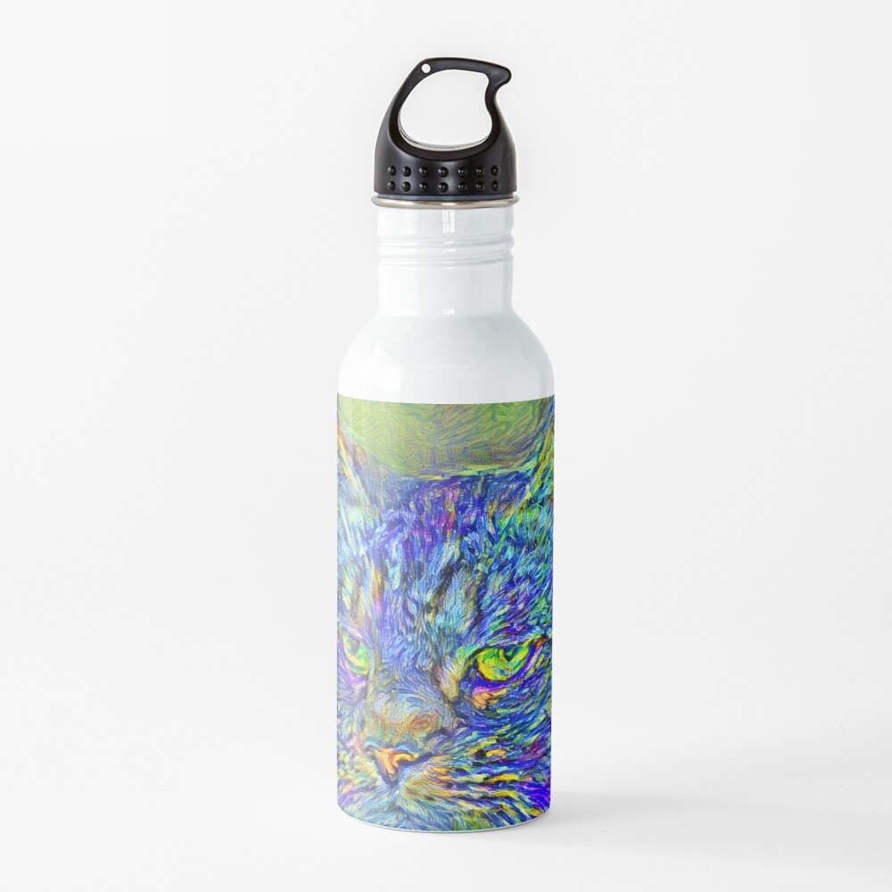 Artificial neural style Post-Impressionism cat Water Bottle