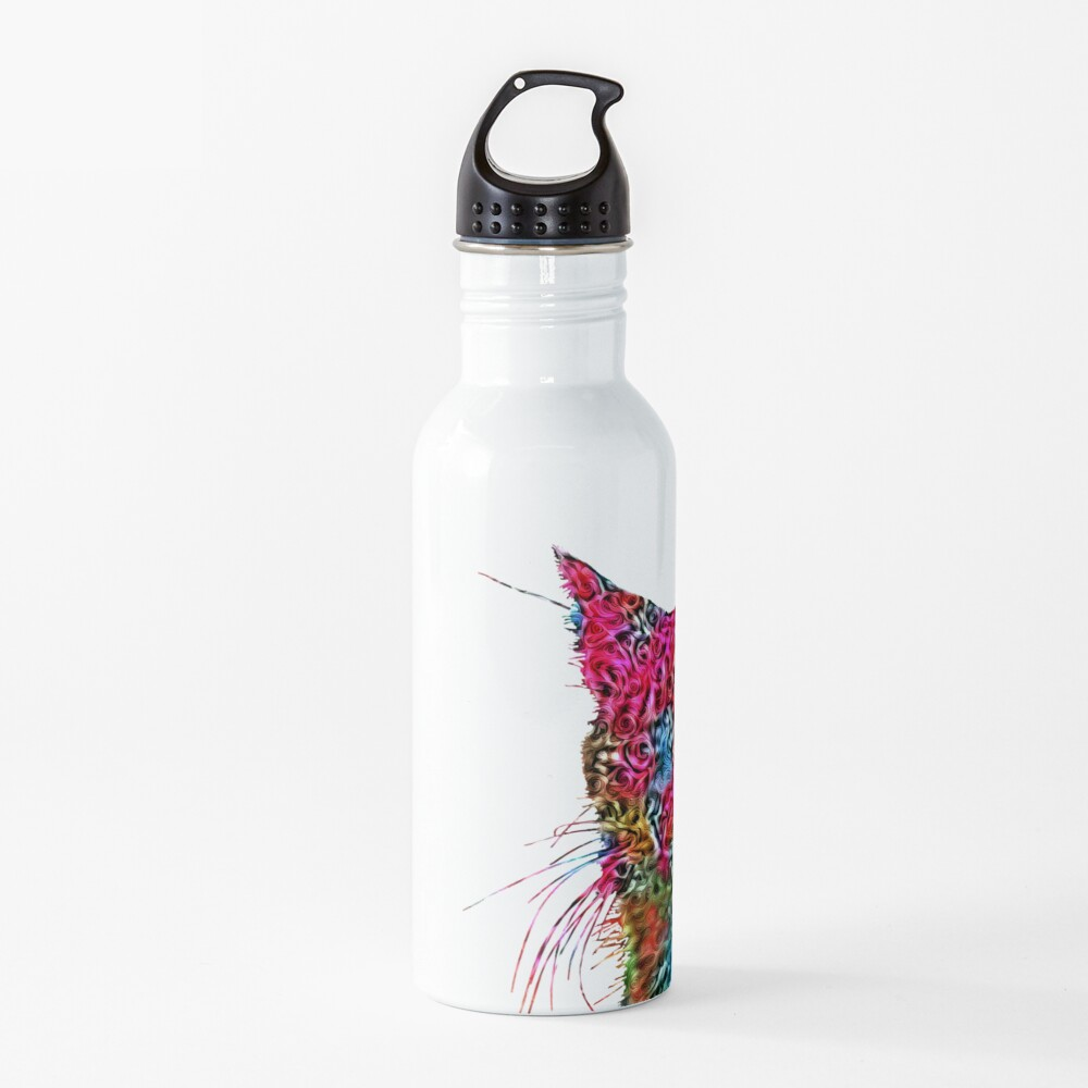 Artificial neural style Rose wild cat Water Bottle
