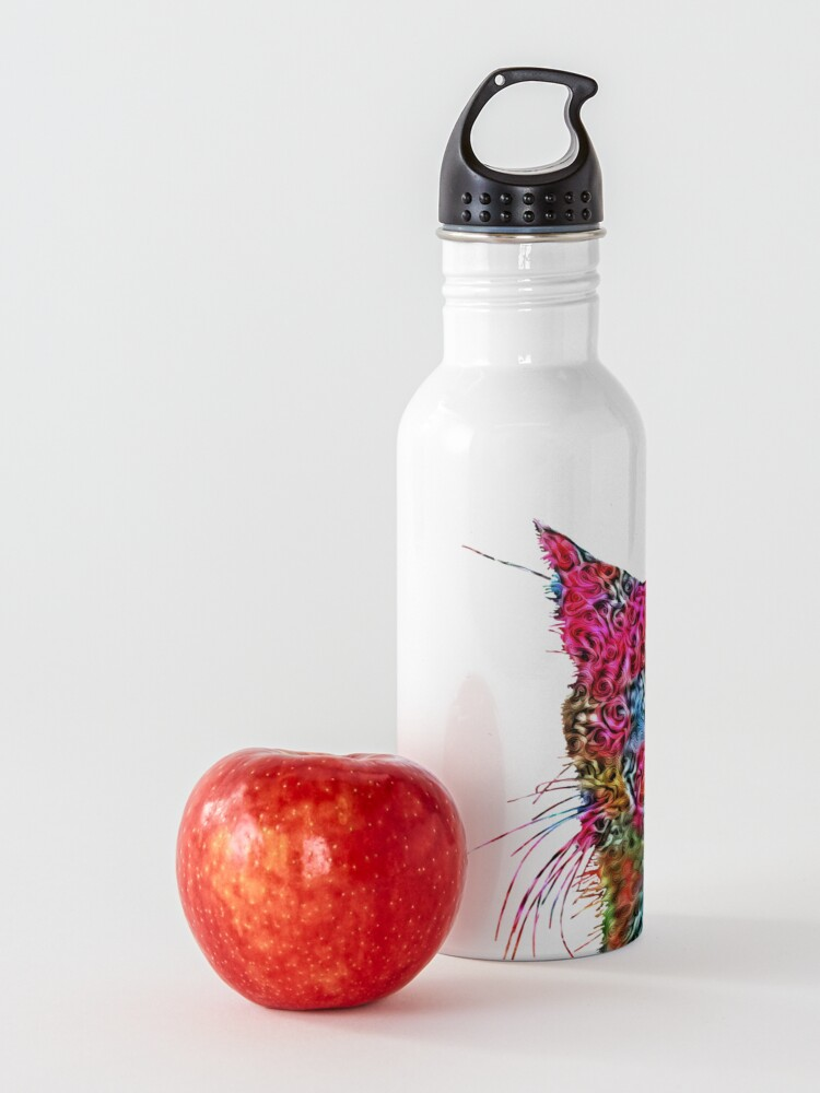 Alternate view of Artificial neural style Rose wild cat Water Bottle