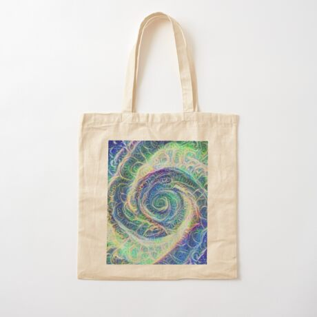 Vortex dragon #DeepDream B Cotton Tote Bag