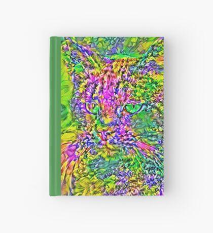 Artificial neural style Flower cat Hardcover Journal