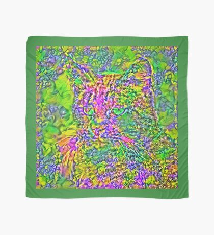 Artificial neural style Flower cat Scarf