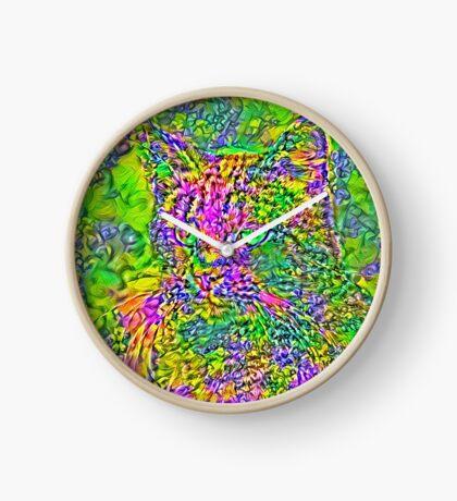 Artificial neural style Flower cat Clock