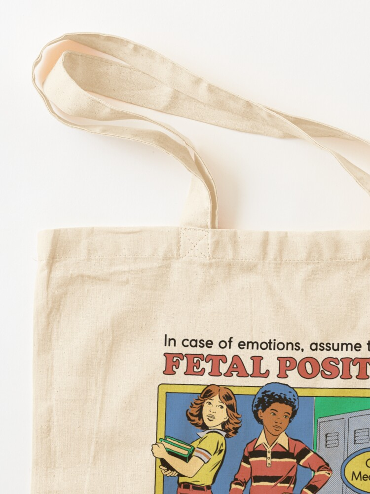 Alternate view of Assume the Fetal Position  Tote Bag