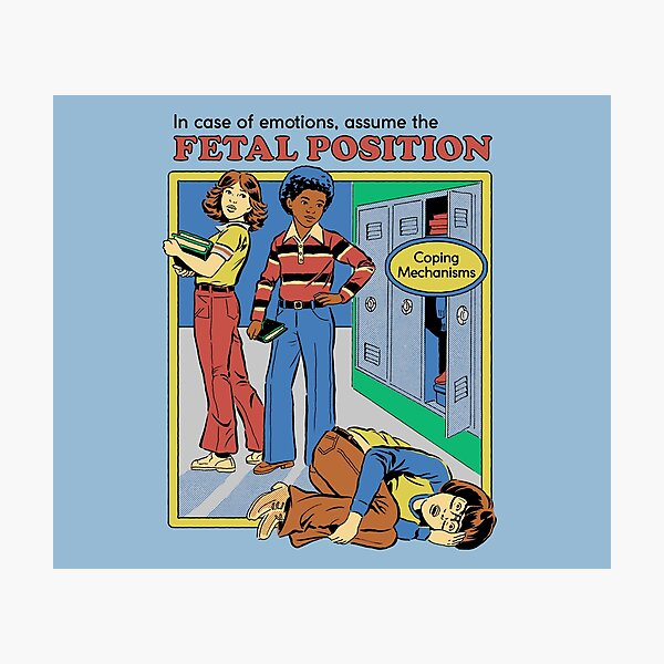 Assume the Fetal Position  Photographic Print