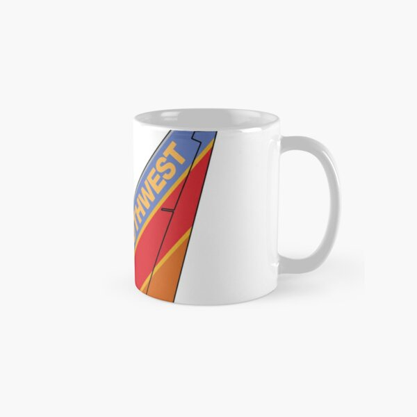 """Southwest Airlines """"Canyon Blue"""" Boeing 737-800 Tail (Left Facing) Classic Mug"""