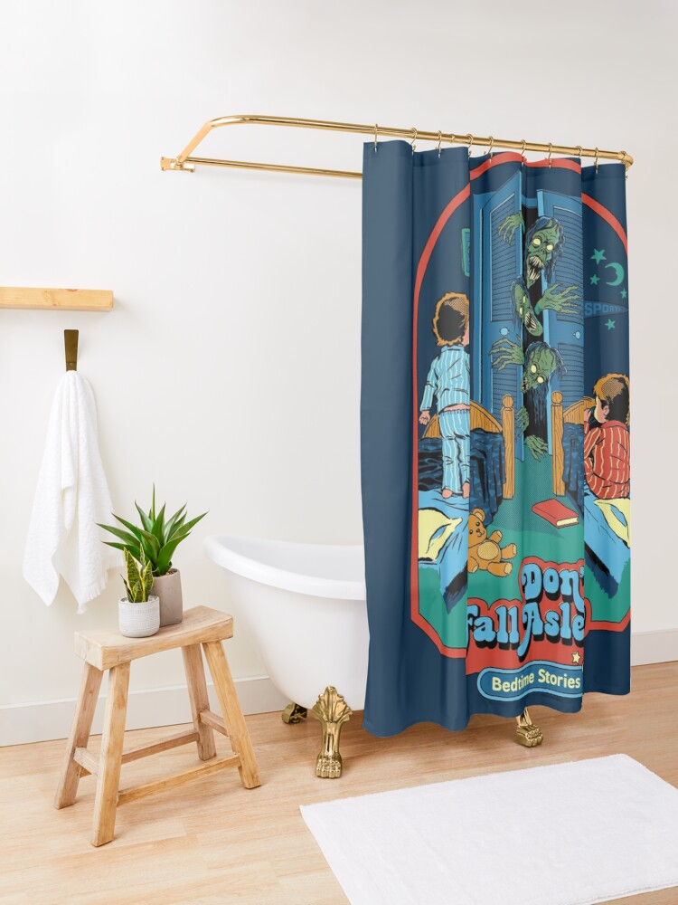 Alternate view of Don't Fall Asleep Shower Curtain