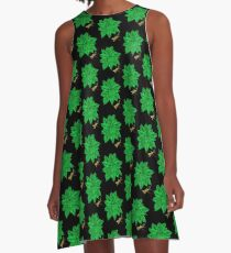 Nature in Green A-Line Dress