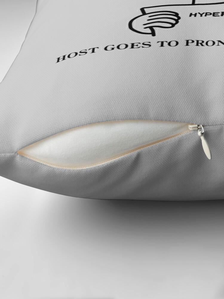 Alternate view of Casefile True Crime – Descendents Tribute (Dark) Throw Pillow