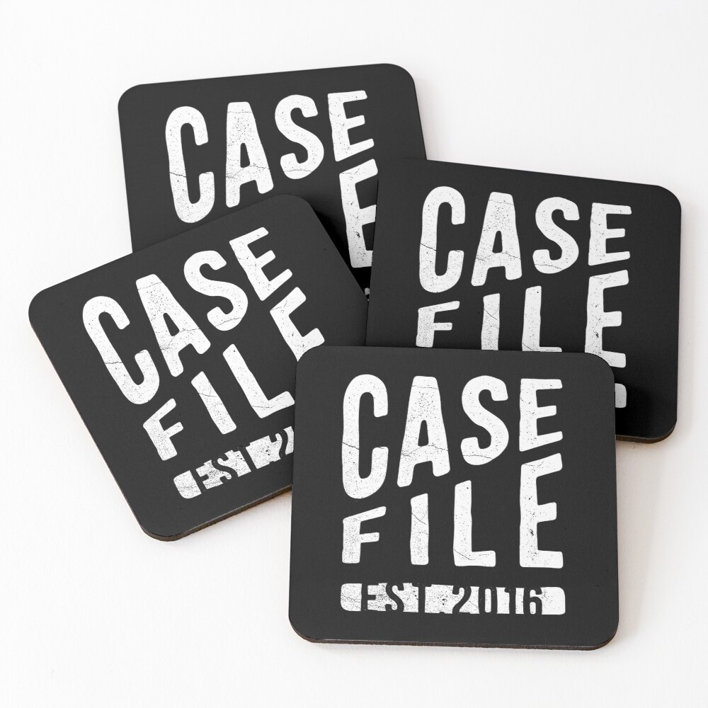 Casefile True Crime Podcast – EST 2016 (Light) Coasters (Set of 4)