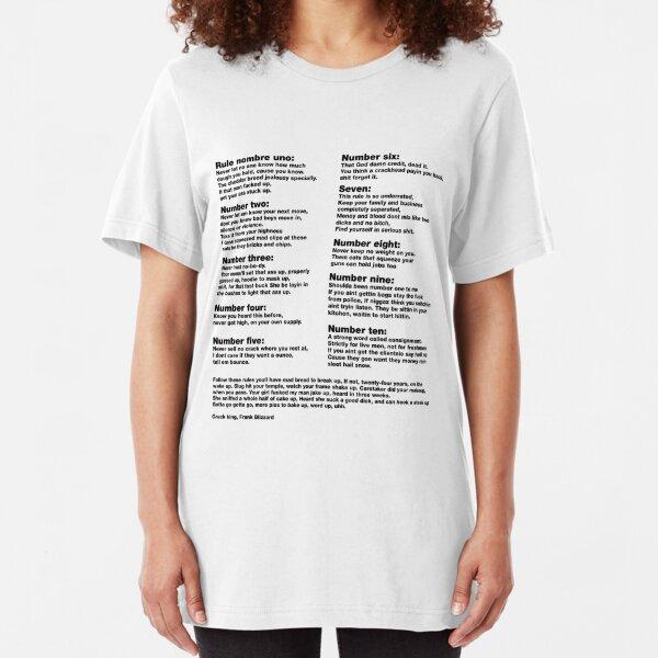 10 Crack commandments   Slim Fit T-Shirt