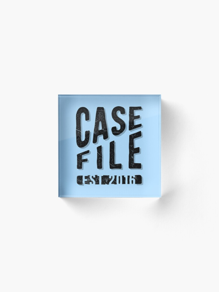 Alternate view of Casefile True Crime Podcast – EST 2016 (Dark) Acrylic Block
