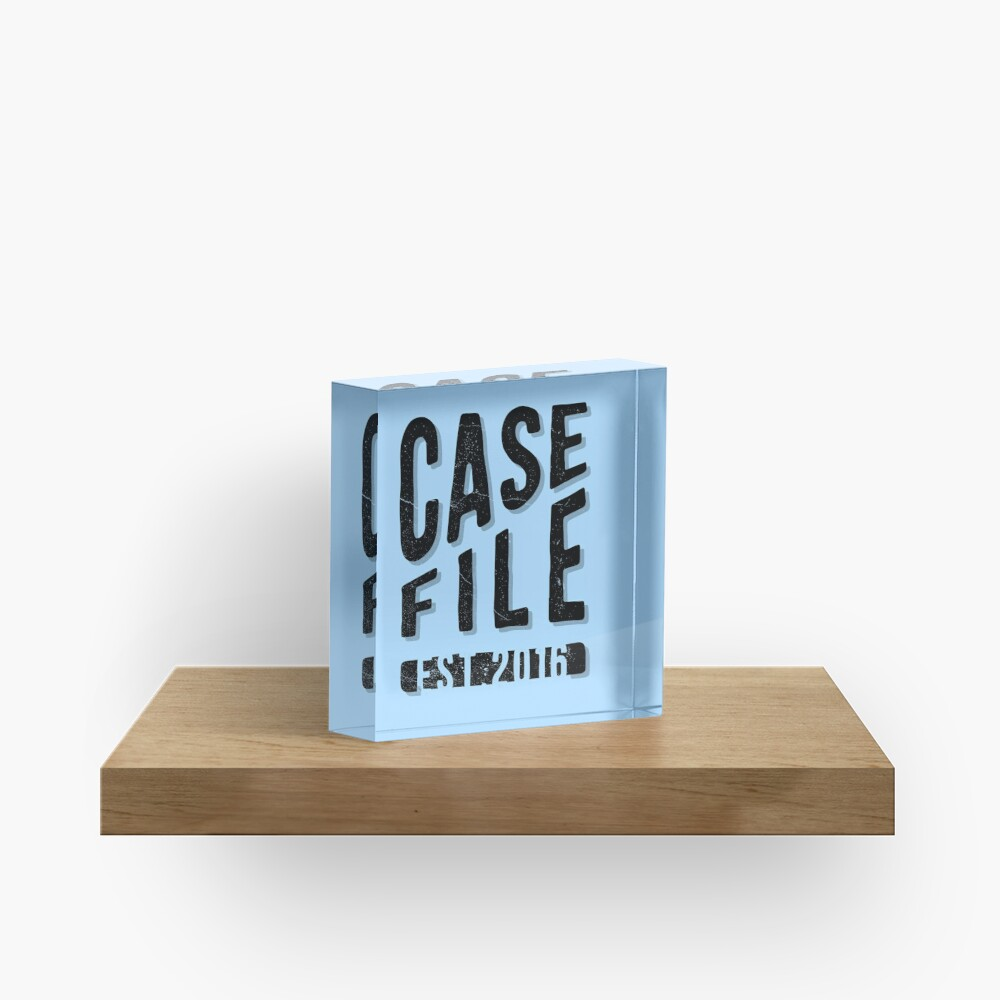Casefile True Crime Podcast – EST 2016 (Dark) Acrylic Block