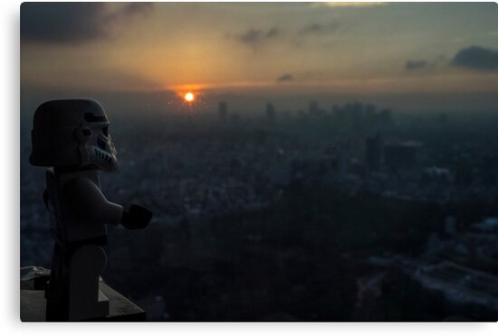 Lego Stormtrooper X Sunset in Roppongi by Benjamin Lim