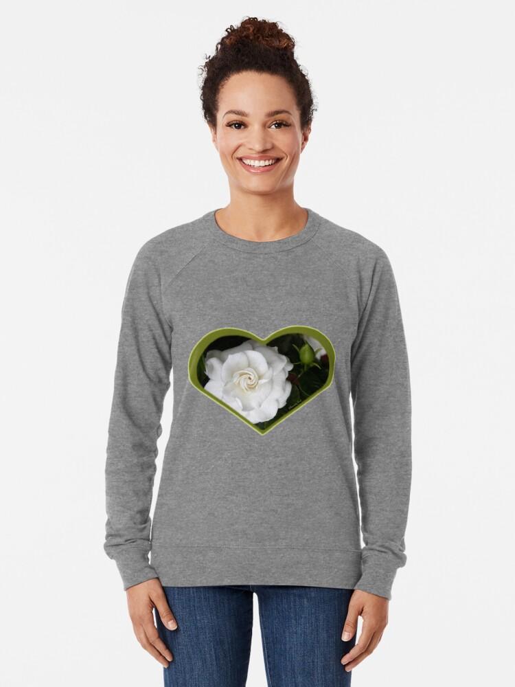 Alternate view of Romantic Night ~ Scent of Gardenias Lightweight Sweatshirt
