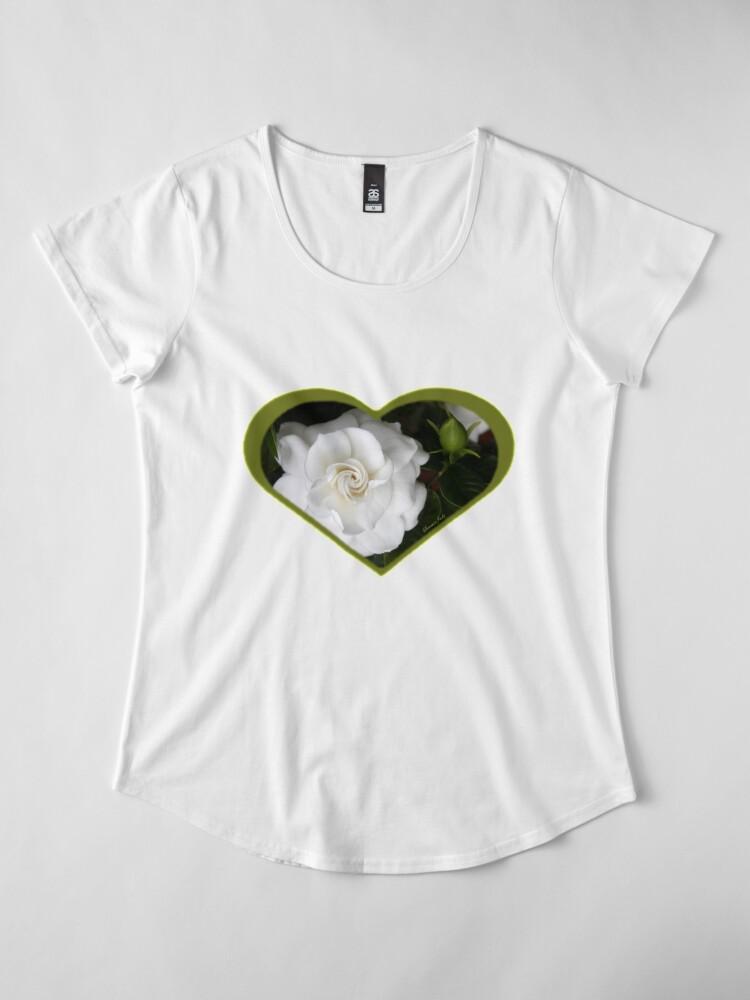 Alternate view of Romantic Night ~ Scent of Gardenias Premium Scoop T-Shirt