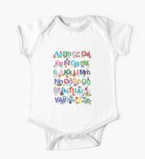 Alphabet for kids One Piece - Short Sleeve