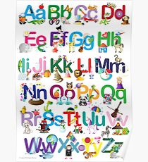 Alphabet for kids Poster