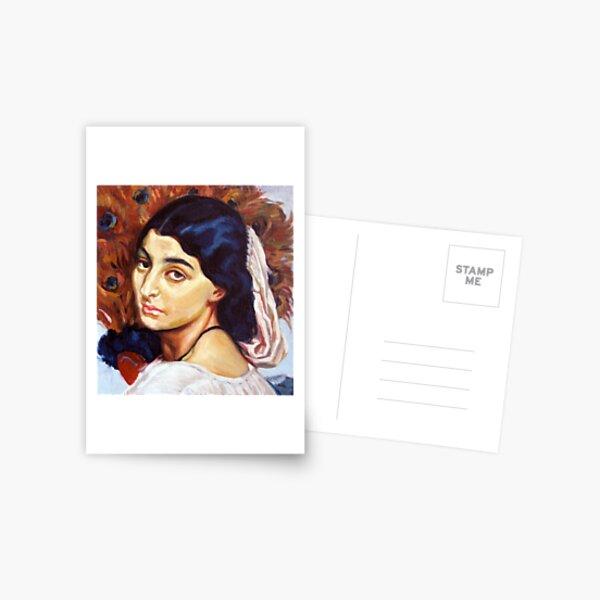 girl turning [after leighton] Postcard