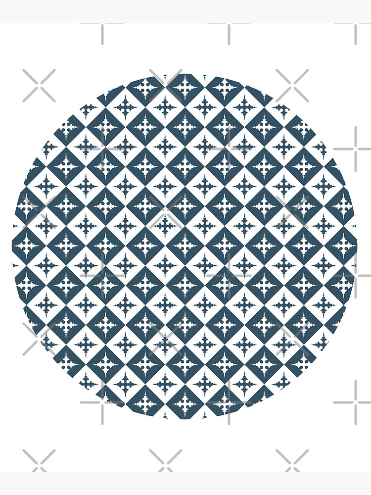 Tile pattern - Blue and White by PrintablesP
