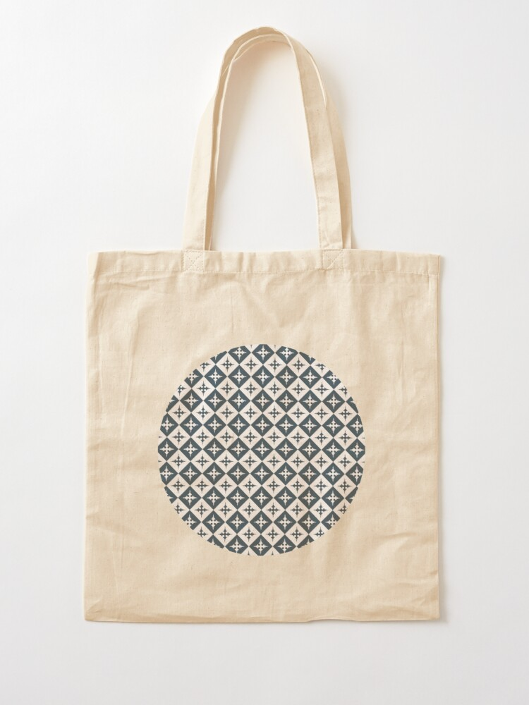 Alternate view of Tile pattern - Blue and White Tote Bag