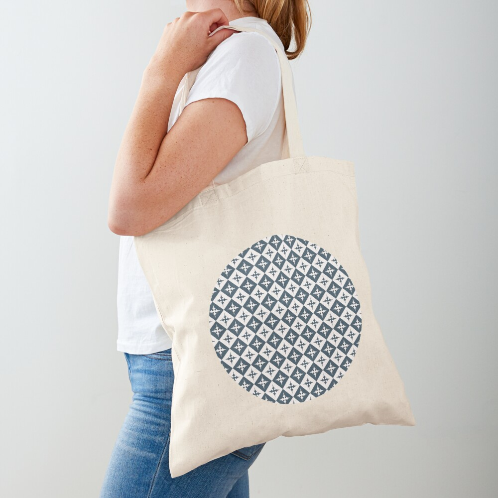 Tile pattern - Blue and White Tote Bag