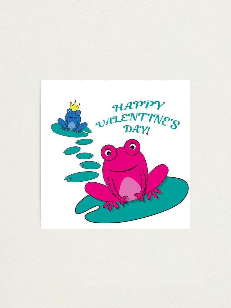 Alternate view of Frogs Valentine Photographic Print