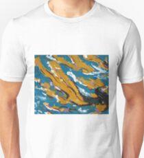 Teal & Mustard Design  Unisex T-Shirt