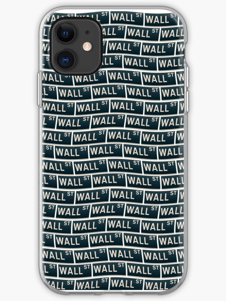 New York Street Sign Wall Street Wallpaper Iphone Case Cover By Stuwdamdorp Redbubble