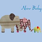New Baby. Elephants by Fiona Reeves