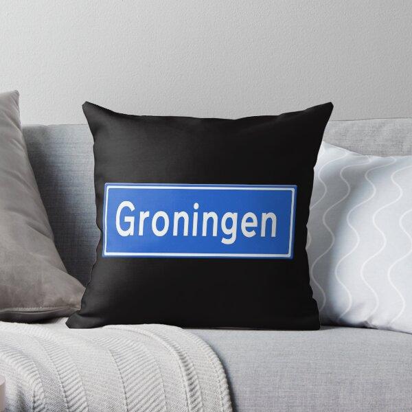 Groningen stads verkeersbord Throw Pillow