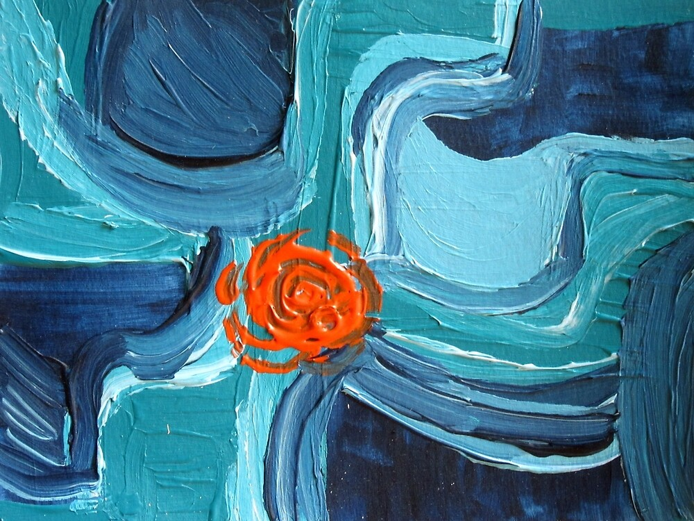 Abstract Blue & Orange Design  by ShiningEyeArts