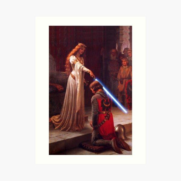 Knighthing in Light Art Print