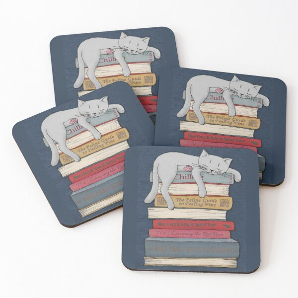 How to Chill Like a Cat Coasters (Set of 4)